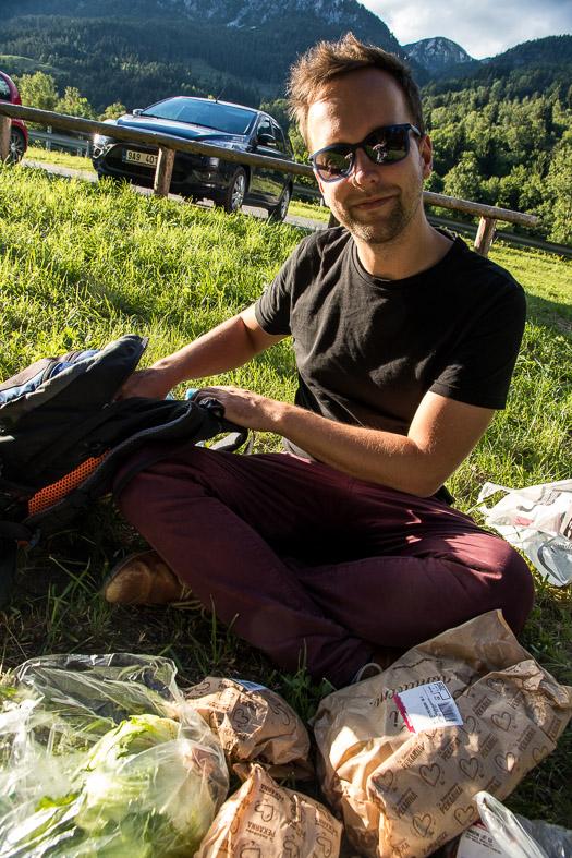 Picknick onderweg naar Mojstrana