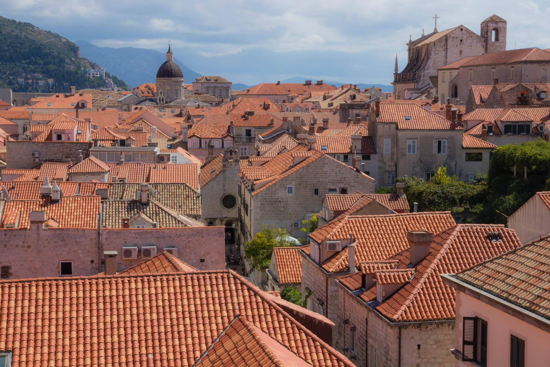 View Dubrovnik, Croatia. Dubrovnik in Kroatië.