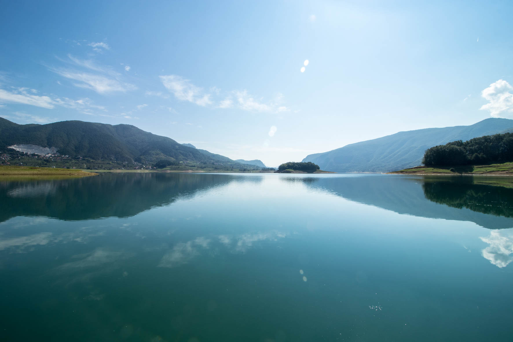Ramsko Jezero. Ramsko Lake in Bosnië.