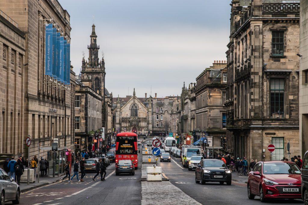 Dubbele bus in Edinburgh