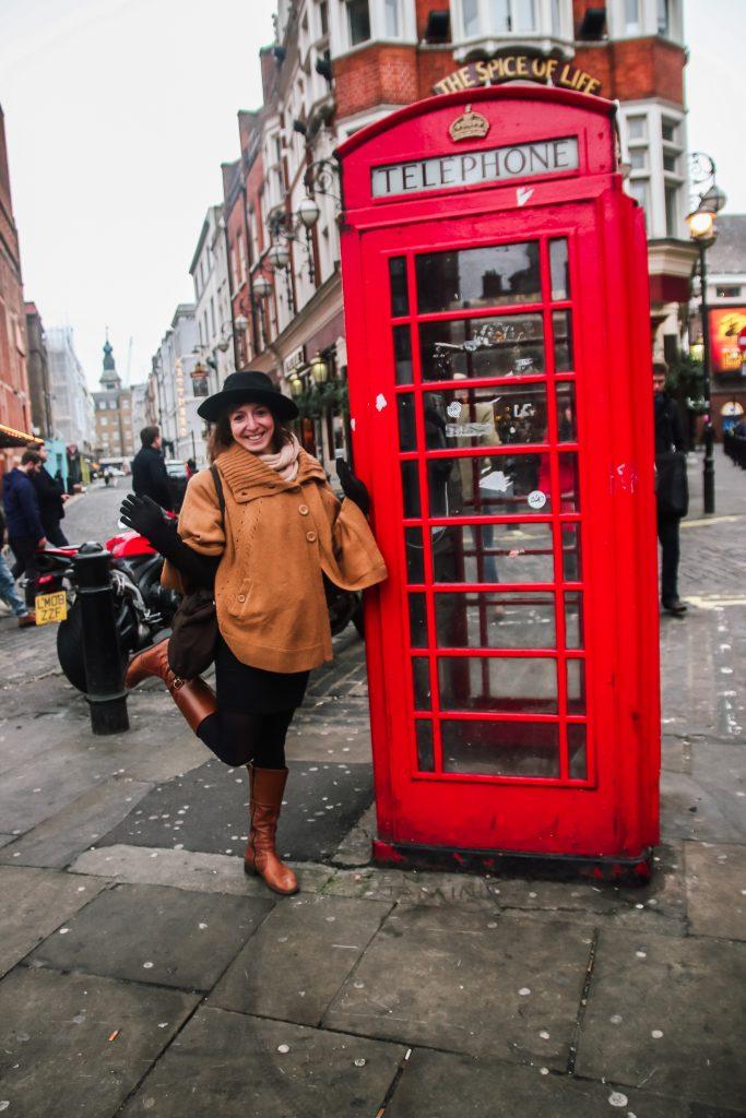 Rode telefooncel. London, UK.