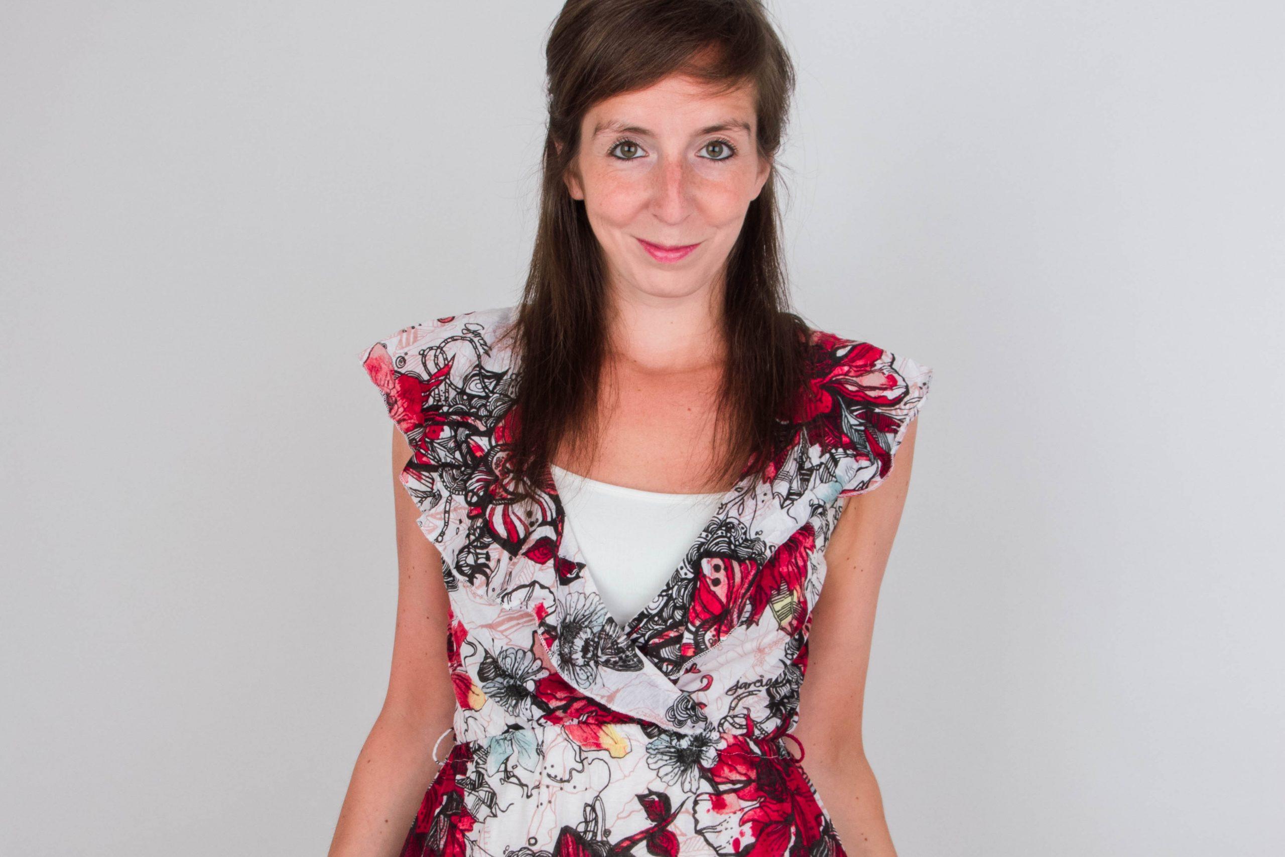 (1/2 verkocht) OOW #10: Kleurrijke en geprinte jurk